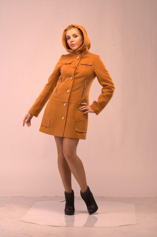 Полу пальто осень-весна с капюшоном. в интернет магазине Gorandi 24c22da179cba