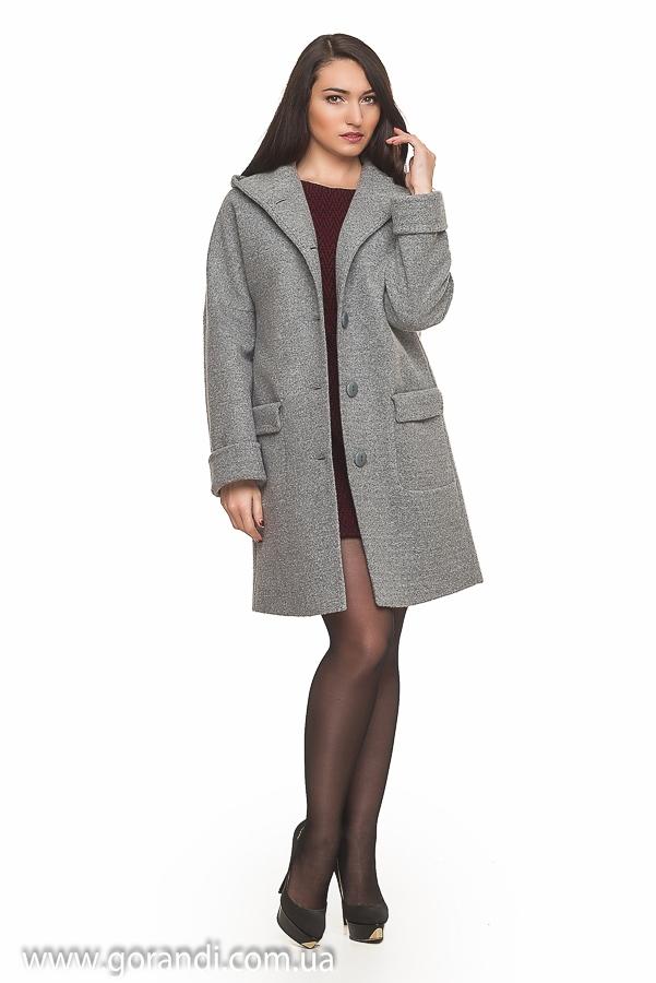 Светло серое полу пальто осень весна д с с капюшоном cbe07cfef1148