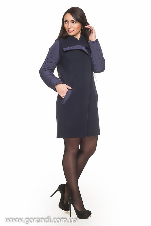 Женское пальто осень черное 2 фотография